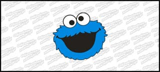 Cookie Monster 5cm niebieski