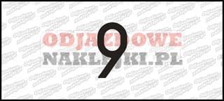 Cyfra 9 Odblaskowa