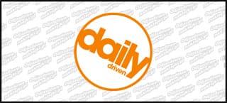 Daily Driven B Pomarańczowo Biała 10cm kolor