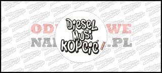 Diesel musi kopcić 10cm biało czarna