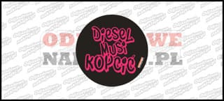 Diesel musi kopcić 10cm czarno różowa