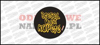 Diesel musi kopcić 10cm czarno złota