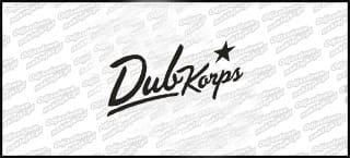Dub Corps logo napis 15cm