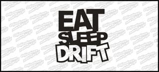 Eat Sleep Drift 10cm