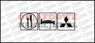 Eat Sleep Mitsubishi 15cm
