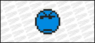 Emot Kwadrat 5cm Niebieski