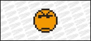 Emot Kwadrat 5cm Pomarańczowy