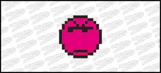 Emot Kwadrat 10cm Różowy