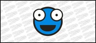 Emot Shoker B 5cm niebieska