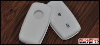 Etui 2B na kluczyk VW SEAT Skoda Biały Nadruk