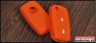 Etui 2B na kluczyk VW SEAT Skoda Pomarańczowy Nadruk
