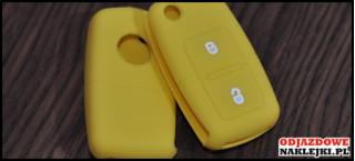 Etui 2B na kluczyk VW SEAT Skoda Żółty Jasny Nadruk