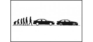 Evolucja BMW E36 Coupe 150cm czarna matowa