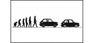 Evolucja Polski Fiat 126p 150cm czarny mat