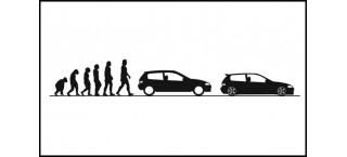 Evolucja Honda Civic V Hb 150cm czarna matowa