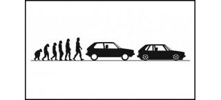 Evolucja VW Golf Mk1 3d 150cm czarna matowa