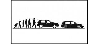 Evolucja VW Golf Mk3 150cm czarna matowa
