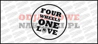 Four Wheels One Love 10cm