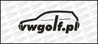 VWGolf.pl mk4 Logo 15cm biała