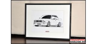 Grafika BMW E30 M3 format a4