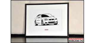 Grafika BMW M5 E60 format a4