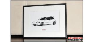Grafika Honda Civic gen 5 Hb