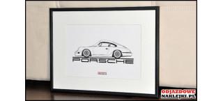 Grafika Porsche 911 Carrera 964 1990