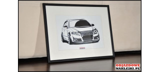 Grafika Audi A4 Avant Vossen format a4