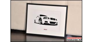 Grafika BMW M3 E46 format a4