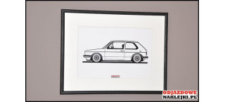 Grafika VW Golf Mk1 BBS RS format a4