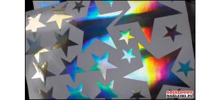 Gwiazdki Hologram format a4