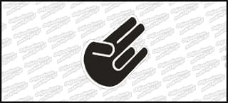 Hand Color Czarna Biała 10cm