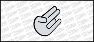 Hand Color Biało Czarna 10cm