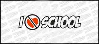 I hate School 15cm