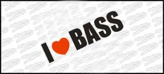 I Love BASS 18cm