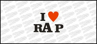 I Love RAP biała 10cm