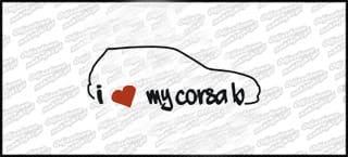 I love Opel Corsa B 15cm