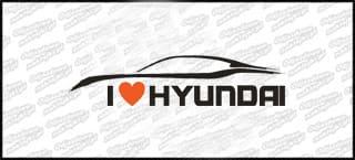 I love Hyundai 15cm biała