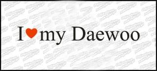 I love my Daewoo biała 20cm