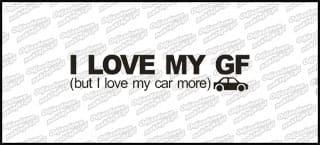 I Love My GF 15cm czarna