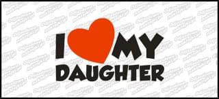 I love my Daughter 15cm biała