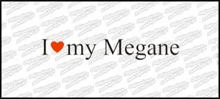 I love my Megane 20cm biała