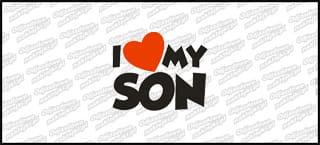 I love my Son 15cm biała