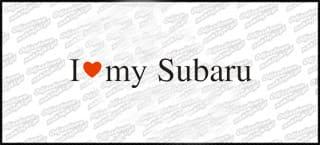 I love my Subaru 20cm biała