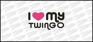 I love my Twingo 15cm kolor
