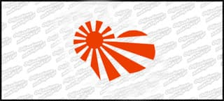 Japan flag 10cm czerwona