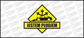 Jestem pługiem Audi A4 B6 sedan 15cm czarno żółta