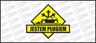 Jestem pługiem Seat Ibiza 99-02 15cm czarno żółta