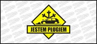 Jestem pługiem VW Golf Mk2 3D A 15cm żółto czarna