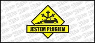 Jestem pługiem VW Golf Mk2 3D B 15cm żółto czarna